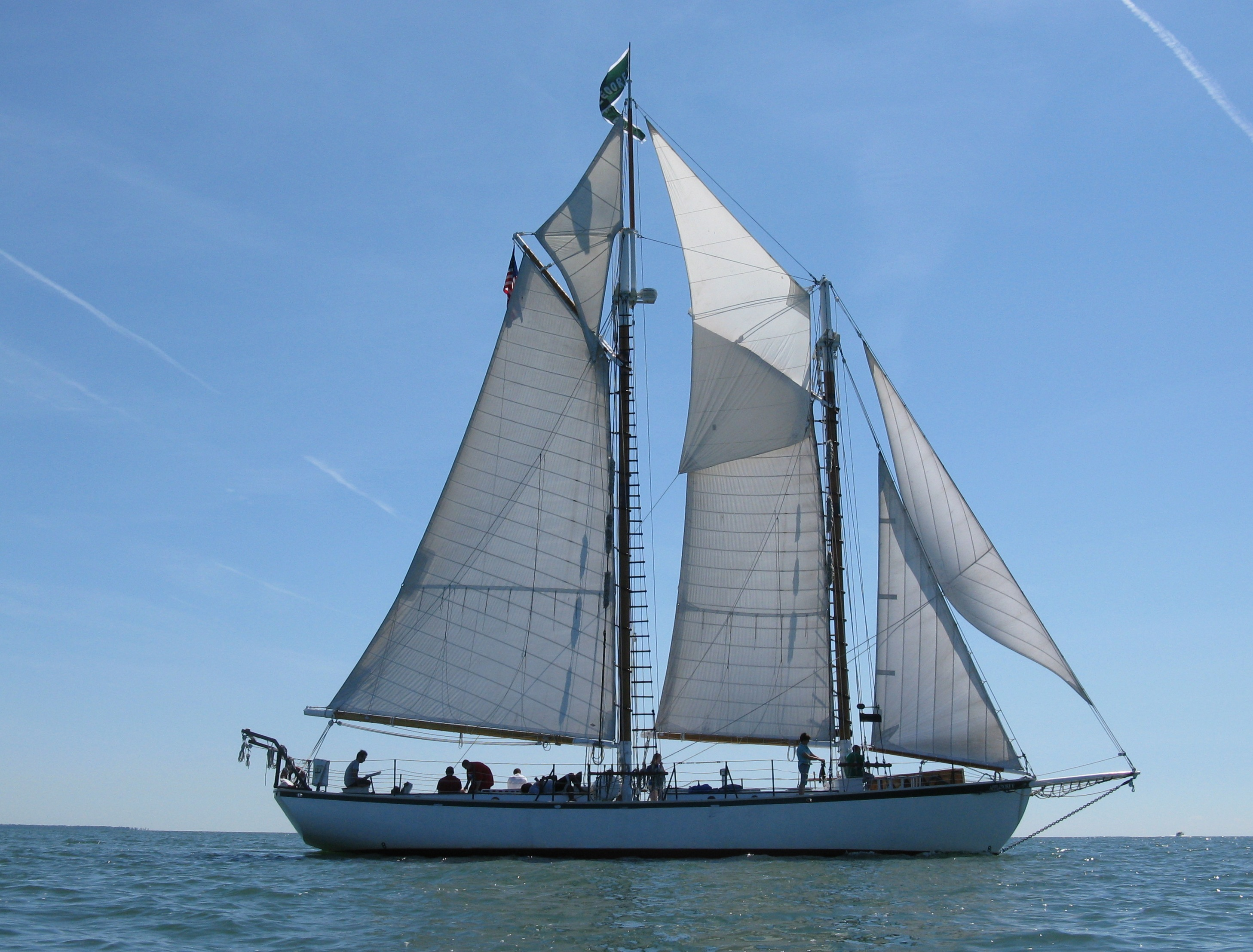 picture of the Appledore IV at sea